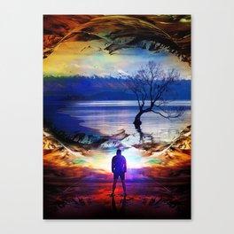 Trough a time portal Canvas Print