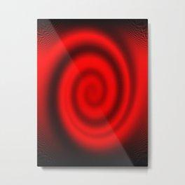 Red Swirlling Illusion Metal Print