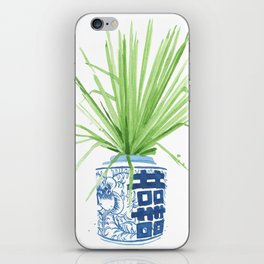 Ginger Jar + Fan Palm iPhone Skin