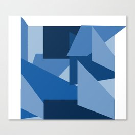 Blu-Geometric Canvas Print