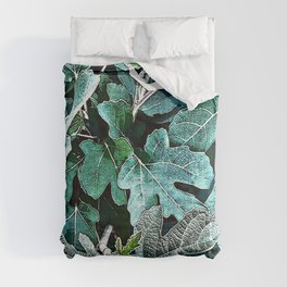 Nocturnal Blue Jungle Comforters