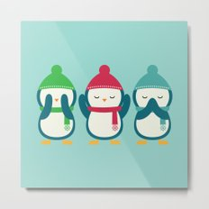 No Evil In Holiday Metal Print