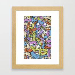 Alphabetcha Collage Framed Art Print