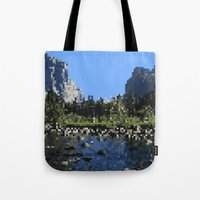 8 bit Tote Bags featuring 8-bit by Stakers