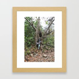 climbing forest Framed Art Print