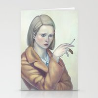 tenenbaum Stationery Cards featuring Margot Tenenbaum by Lek Chan