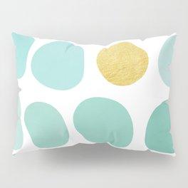 Aqua Pebbles & gold Pillow Sham