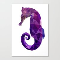 sea horse Canvas Prints featuring Sea horse by Julia Brnv
