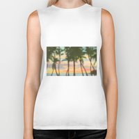 palm Biker Tanks featuring palm by OVERall