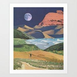 Happy Wanderer Art Print