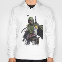 boba Hoodies featuring Boba Fett by KristinMillerArt