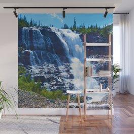Geraldine Waterfall located in Jasper National Park, Canada Wall Mural