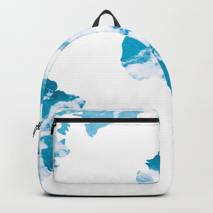 World Map Ocean Waves Backpack