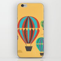 hot air balloons iPhone & iPod Skins featuring Hot Air Balloons by Marina Design