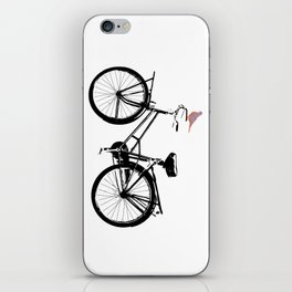 Baker's bicycle with bird iPhone Skin