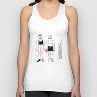 boxer Tank Tops featuring boxer by nena