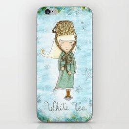 White Tea Girl iPhone Skin