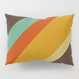Retro 70s Color Palette Pillow Sham