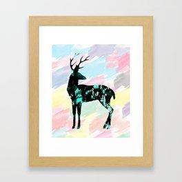 Abstract Deer Framed Art Print