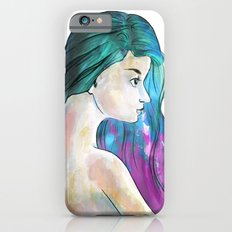 Watercolor Sea Portrait iPhone 6s Slim Case