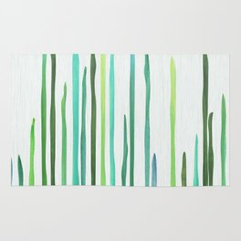 Under The Sea - abstract botanical Rug