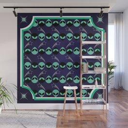 Aliens Exist (Purple) Wall Mural