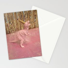 Dino Party Girl Pink Stationery Cards