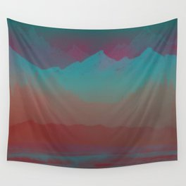 Ombre Mountainscape (Sunset Colors) Wall Tapestry