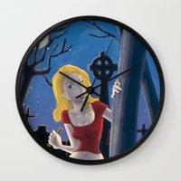 buffy Wall Clocks featuring Buffy by TeeNa Stone
