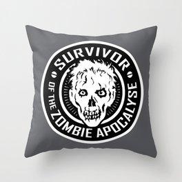 Survivor of the Zombie Apocalypse Throw Pillow