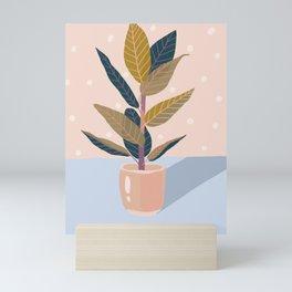Ficus House Plant Mini Art Print