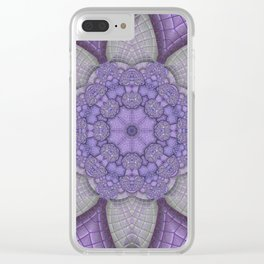 Lavender Kaleidoscope Clear iPhone Case