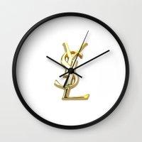 ysl Wall Clocks featuring YSL by I Love Decor