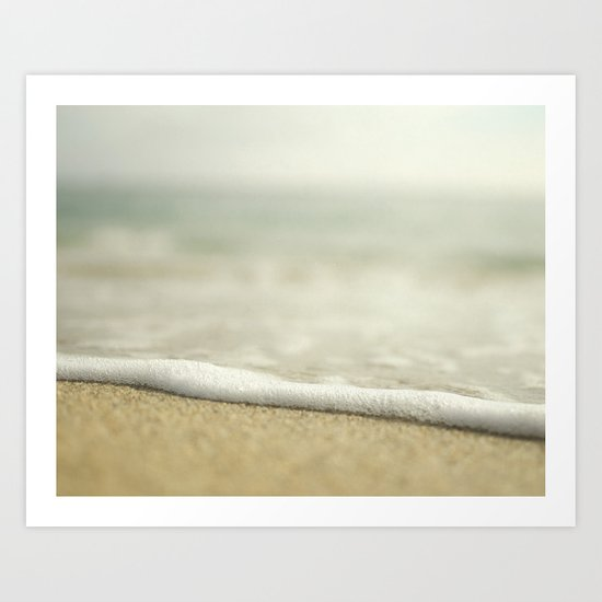 Beach Close Up Art Print