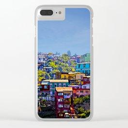 Cerro Artilleria, Valparaiso, Chile Clear iPhone Case