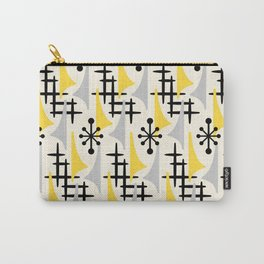 Mid Century Modern Atomic Wing Composition Yellow & Grey Carry-All Pouch