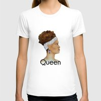 queen T-shirts featuring Queen by Nina Bryant Studio