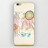 dream catcher iPhone & iPod Skins featuring Dream Catcher by famenxt