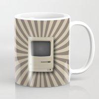 mac Mugs featuring Retro Mac by MaNia Creations
