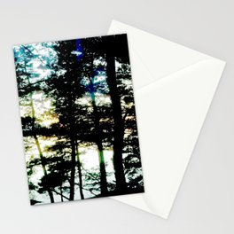 Light leaks of evening sun Stationery Cards