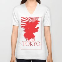 "tokyo V-neck T-shirts featuring ""Tokyo"" by ICECREAM ROBOT"