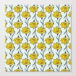 Seamless Flower Buttercup  Pattern Canvas Print