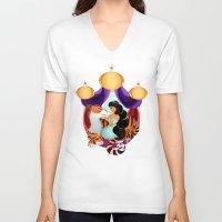 jasmine V-neck T-shirts featuring Jasmine by Karrashi