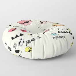 Poppies Print Floor Pillow