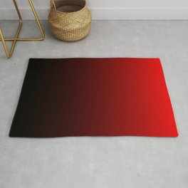 Red and Black Gradient Rug