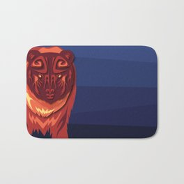 """""""Mathuin in Vector"""" by Paper Laine Bath Mat"""