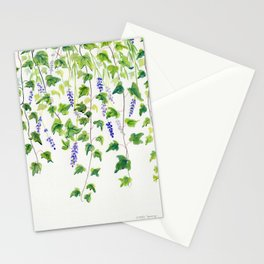 Ivy and Lavender Watercolor Stationery Cards