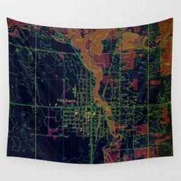 Park Rapids old map year 1969, united states old maps, colorful art Wall Tapestry