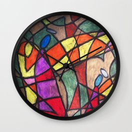 Fragmented Angels #014 Wall Clock