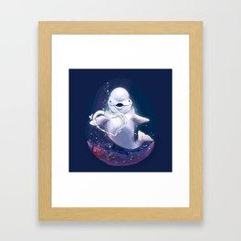 Beluga Whale Blow Kiss Framed Art Print